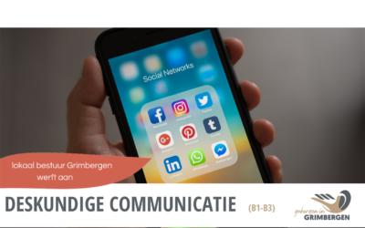 Vacature: 'Deskundige Communicatie'